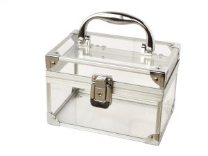 transparent box isolated on a white background